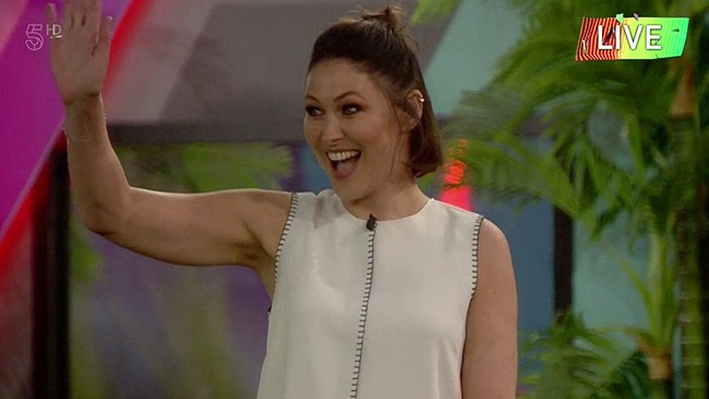 Big Brother 2016 - Emma Willis enters the house to host the final Annihilation eviction