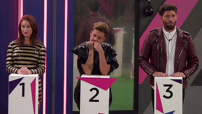 Big Brother 2016 - Laura Carter, Ryan Ruckledge and Sam Giffen face the final Annihilation twist