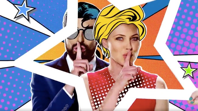 Emma Willis and Rylan Clark-Neal are comic book characters in Celebrity Big Brother 2017 All Stars/New Stars trailer