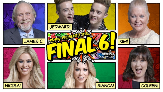 Celebrity Big Brother 2017 All Stars/New Stars finalists - James C, Jedward, Kim Woodburn, Nicola McLean, Bianca Gascoigne, Coleen Nolan