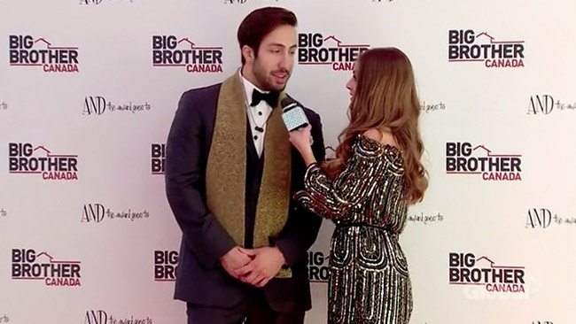 Big Brother Canada 5 2017 - Nikki Grahame interviews Demetres on the BBCAN5 Awards red carpet