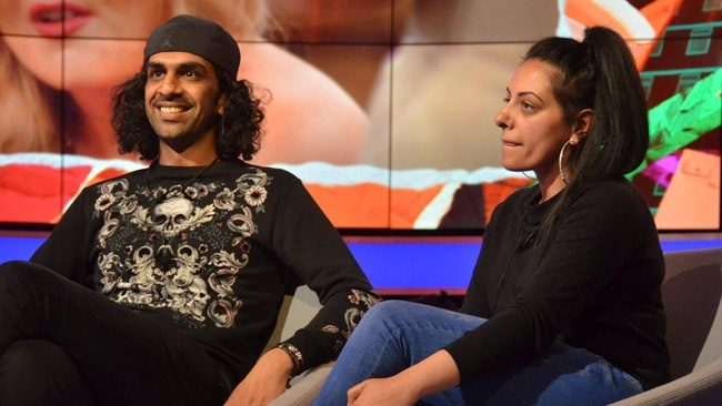 Big Brother 2017 - Emma Willis interviews second evictee Imran Javeed and his walker wife Sukhvinder