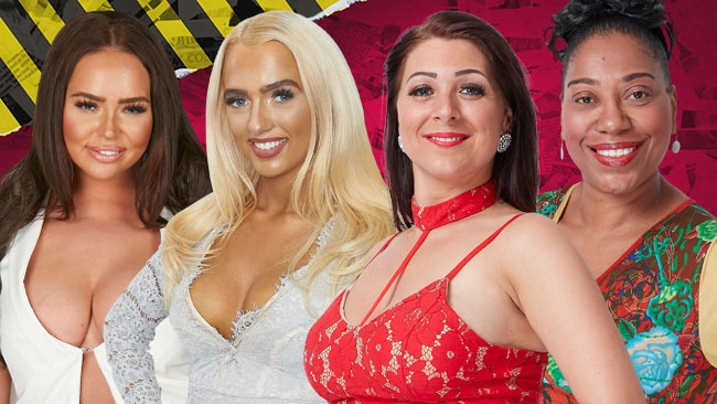 Big Brother 2017 - 'The Hunt' victims Chanelle McCleary, Isabelle Warburton, Simone Reed and Sue Evans