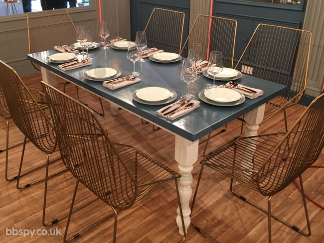 Celebrity Big Brother summer 2017 - bbspy exclusive launch night house tour: Dining tables in the kitchen