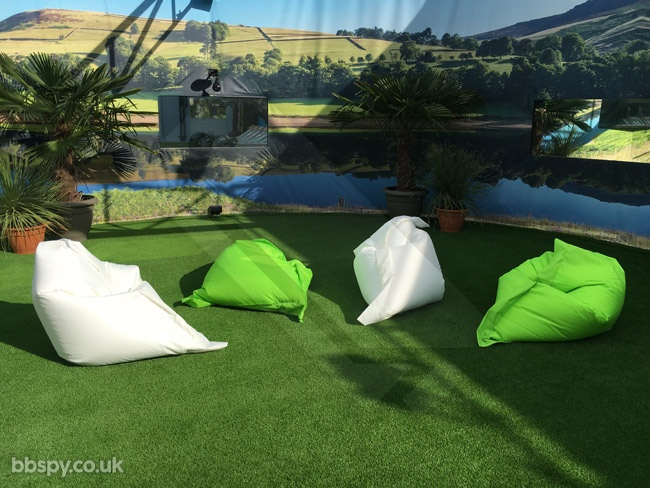 Celebrity Big Brother summer 2017 - bbspy exclusive launch night house tour: Bean bags in the garden