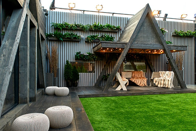 Celebrity Big Brother 2018 house pictures - garden