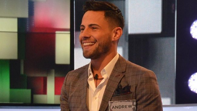 Celebrity Big Brother 2018: Year of the Woman - male live launch - Andrew Brady