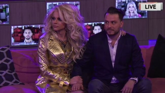 Celebrity Big Brother 2018 - Courtney and Daniel notice intruders in the garden during live triple eviction