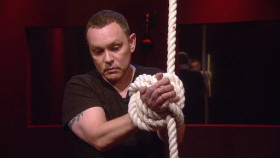 Celebrity Big Brother 12 summer 2013 - Doug Hutchison appears as a hostage in the Mr Big shopping task