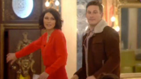 Celebrity Big Brother 2014 - Emma Willis enters the house to evict Lee Ryan