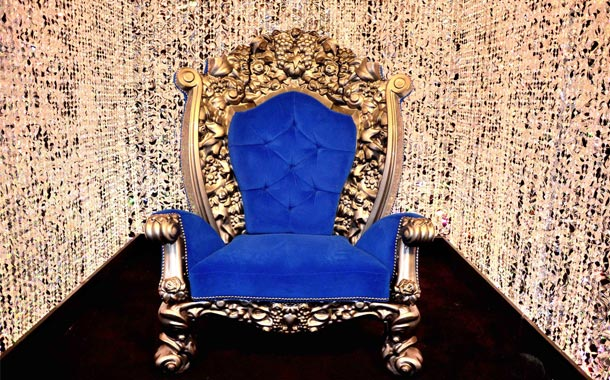 Big Brother 2012 House - Diary Royal Blue Throne