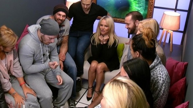 Pamela Anderson in the Big Brother Germany Diary Room