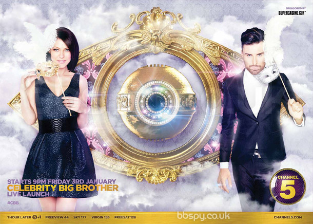 Celebrity Big Brother 2014 press advert with Emma Willis and Rylan Clark
